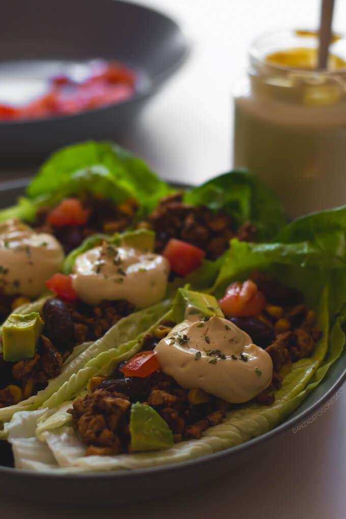 Vegan tacos with sour cream   danceofstoves.com