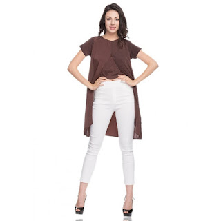 Amazon- Buy The H & K Clothing's Women's Brown Cape Top at Rs 100