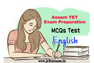 Assam TET Language English MCQs for Assam TET Exam 2019 Part II