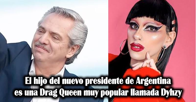 El hijo del nuevo presidente de Argentina es una Drag Queen muy popular llamada Dyhzy