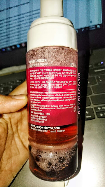 Neogen Real Fresh Foam Cranberry ingredients