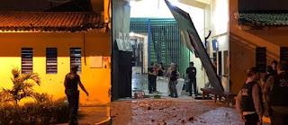 Imagens de segurança mostram momento em que penitenciária PB1 é invadida; assista