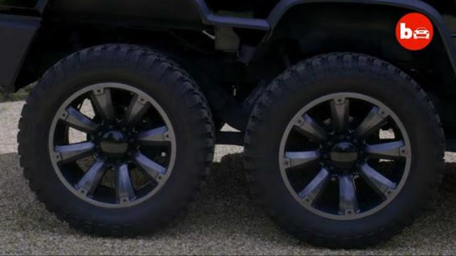 World's First 6 Wheeled Hummer SUVT