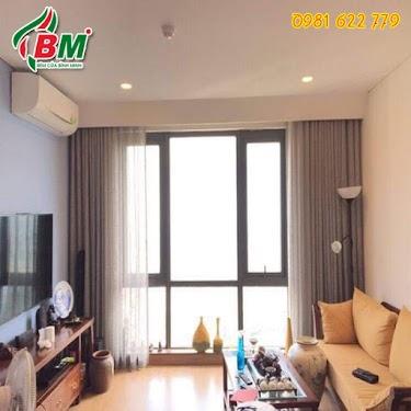 Rèm vải cao cấp bình minh chống nắng cho phòng khách sang trọng nhẹ nhàng,công trình thi công tại phước long...0981.622.779