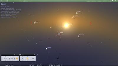 visual bumi venus matahari dari mars