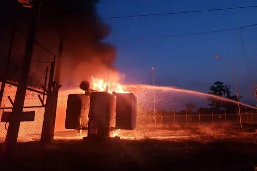 São Sebastião fica sem energia após incêndio em subestação da CEB