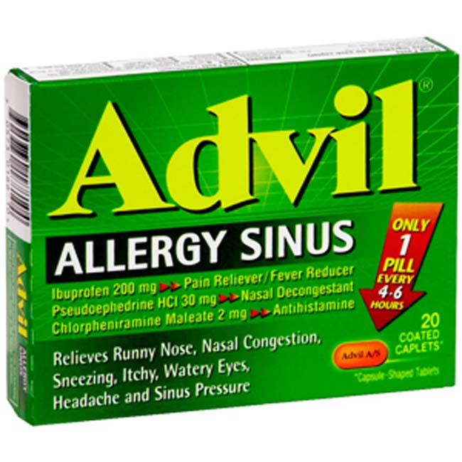 Advil Allergy Sinus Medicinas Y Su Uso