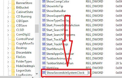 Gambar 4 - Cara Menampilkan Detik Pada Jam Taskbar Windows 10