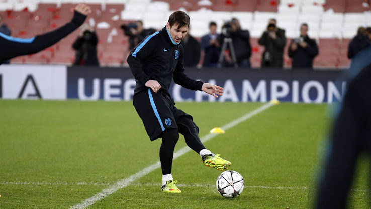 Messi estrenó nuevos botines adidas