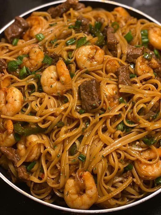Teriyaki Shrimp and Noodle Stir-Fry
