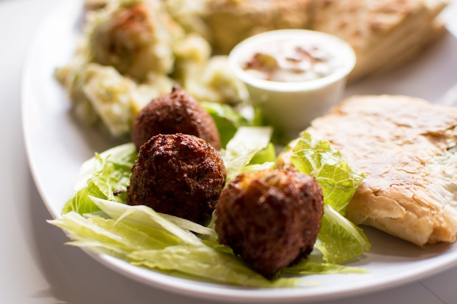 Falafels and salad