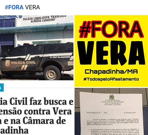 Fora Vera, pelo afastamento da presidente da Câmara de Chapadinha