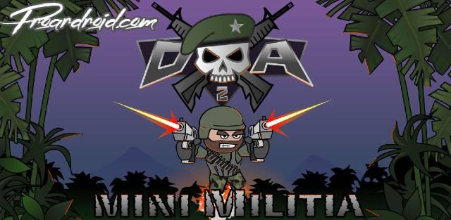 تحميل لعبة  Doodle Army 2: Mini Militia APK النسخة المهكرة للاجهزة الاندرويد