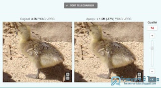 Optimizilla réduire le poids de vos images