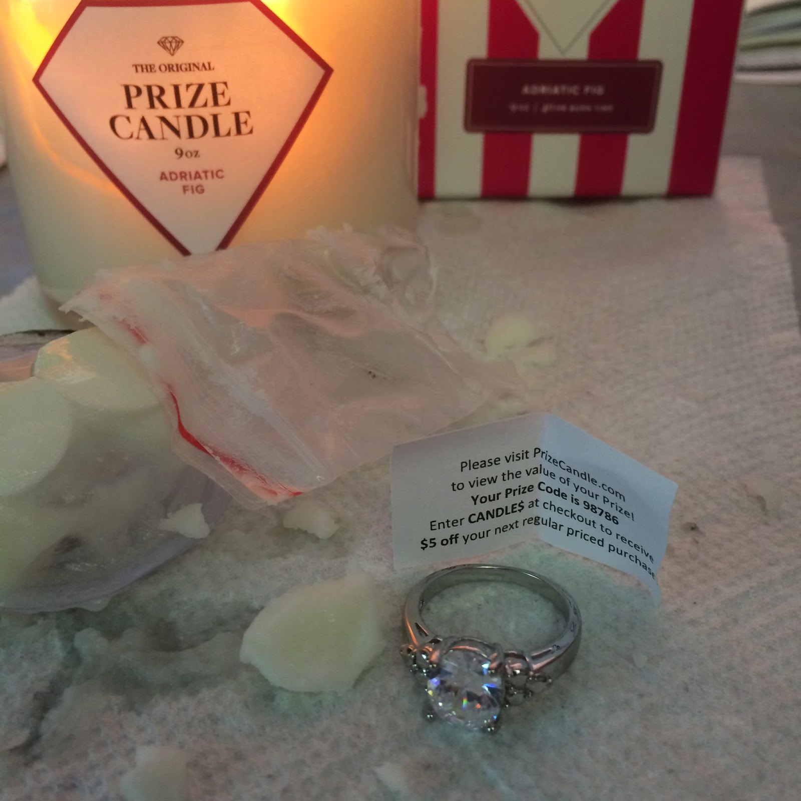 no patience, digging out my prize from #tmmprizecandle