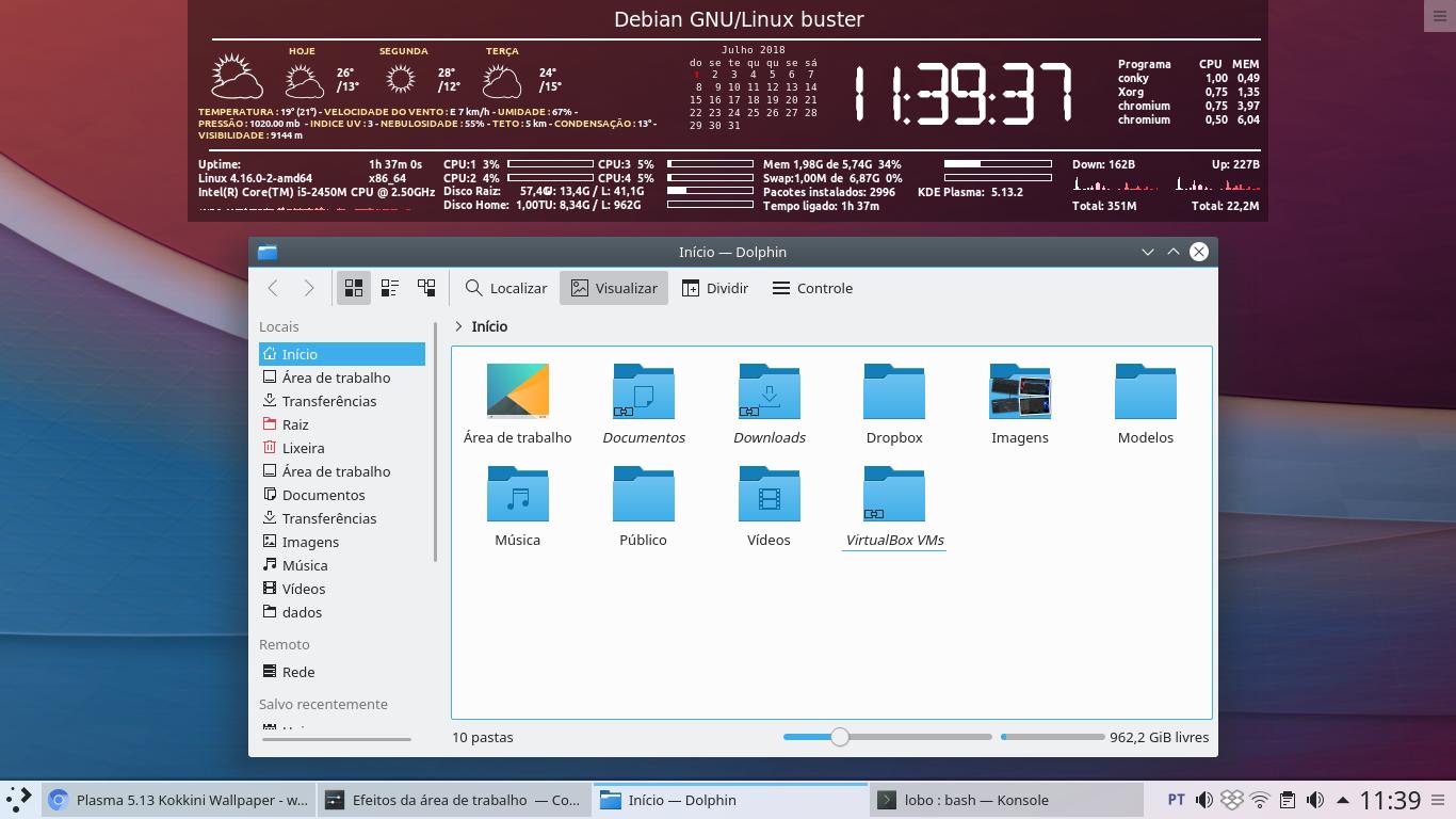 Linux dicas e suporte: KDE Plasma 5 13 2 chega no Debian