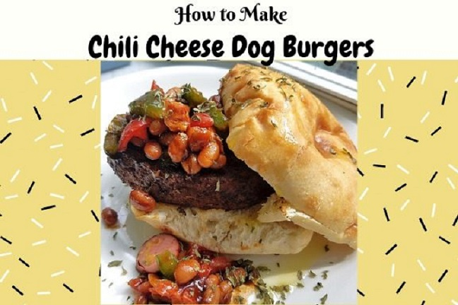 these are delicious chili cheese dog burgers and how to make the hotdog chili and  it's topped  on a hamburger
