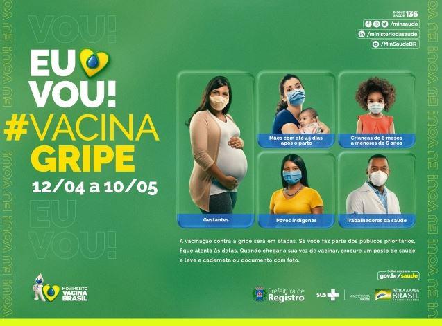 Registro-SP inicia campanha de vacinação contra a Gripe