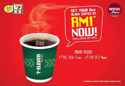 7-Eleven Malaysia Nescafe Black Coffee RM1 Discount Promo