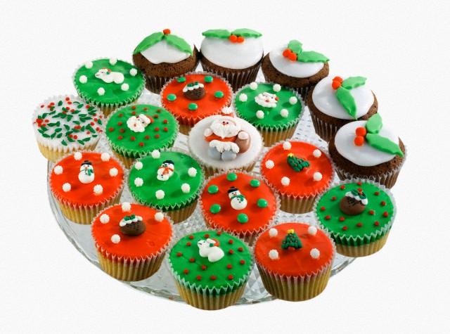Χριστουγεννιάτικα Cupcakes Mήλο Τσάι και Κανέλα