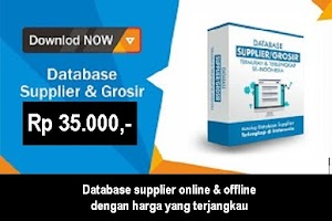 Database Supplier dan Produsen di Indonesia (Online dan Offline)