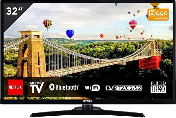 Hitachi 32HE4000: Smart TV FHD de 32'' con sintonizador TDT2, Bluetooth y Wi-Fi