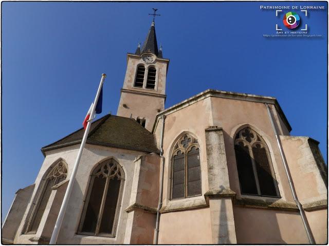 CUSTINES (54) - Eglise Saint-Léger (XIIe-XVIIIe siècle) (Extérieur)