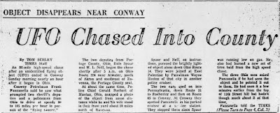 UFO Chased Into County - Beaver County Times 4-18-11