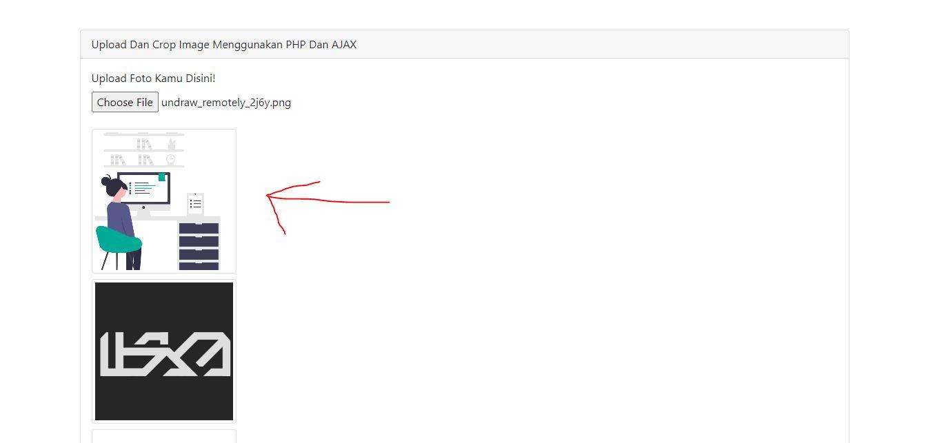 Upload Dan Crop Image Menggunakan PHP Dan AJAX
