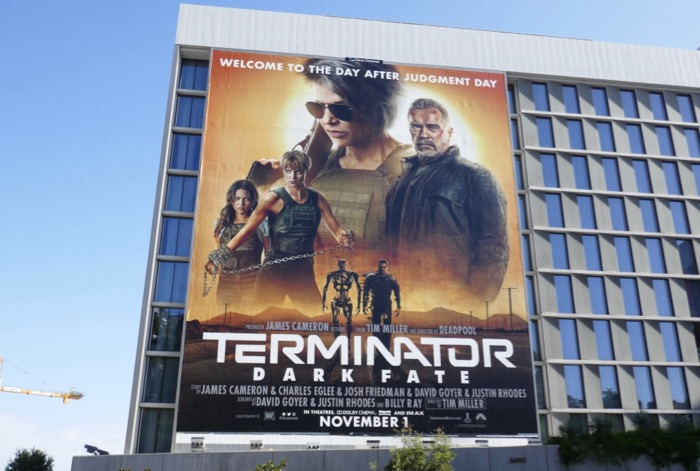 Terminator Dark Fate movie billboard