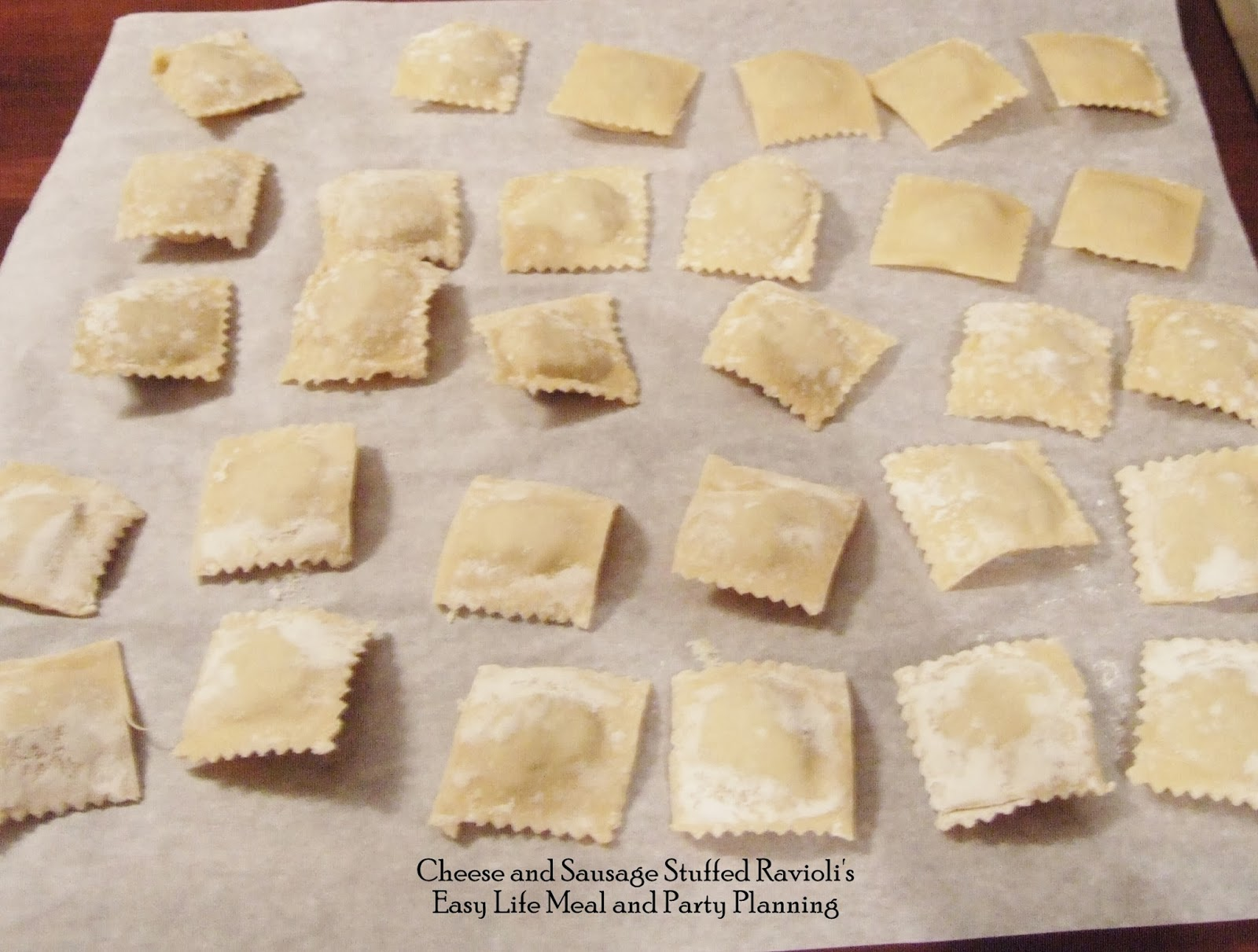 Cheese and Sausage Stuffed Raviolis by Easy Life Meal and Party Planning