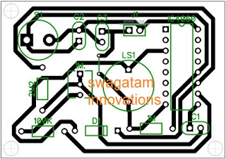 PCB design layout for IC 4060 timer circuit