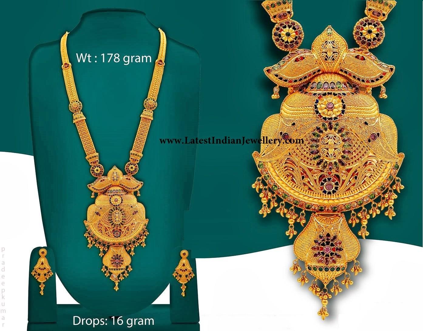 Calcutta Design Bridal Gold Haram Latest Indian