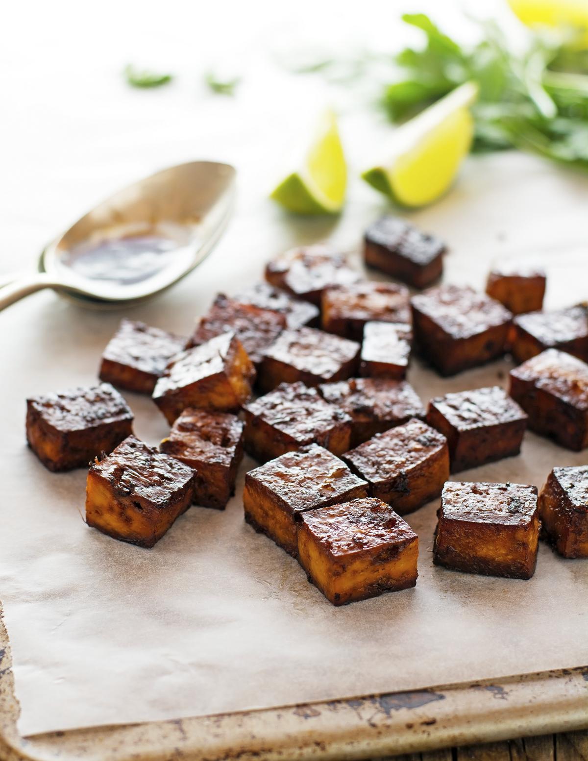 Crispy Baked Marinated Tofu