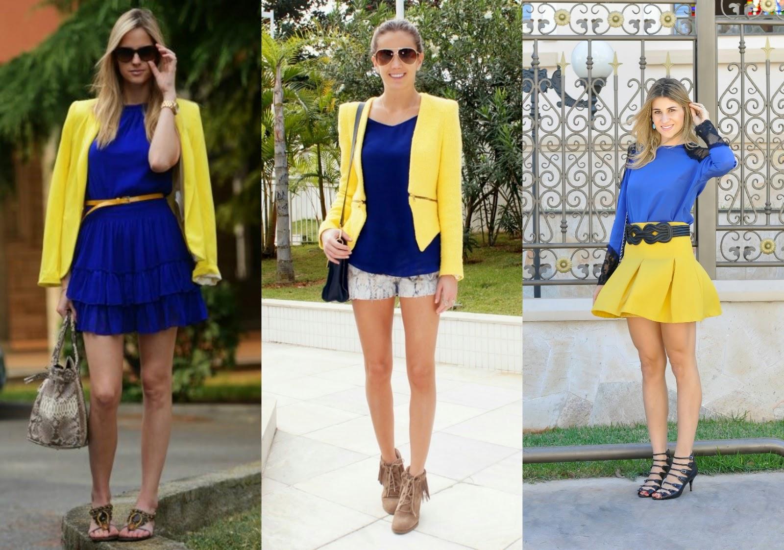 Roupa Azul E Amarelo
