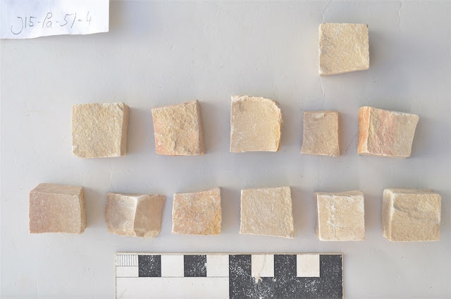 Ancient earthquake turned mosaic workshop into time capsule