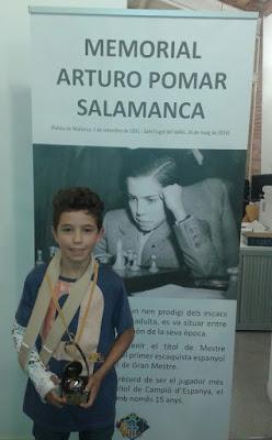 Jan Travesset Sagré, vencedor del grupo Sub-12 del I Memorial Arturo Pomar Salamanca