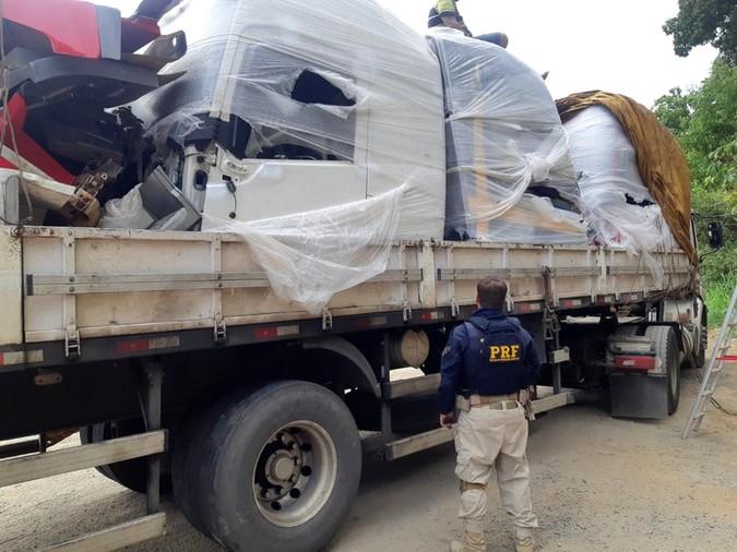 PRF recupera três cabines de caminhão roubadas na BR-101