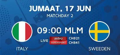 Live Streaming Keputusan Italy Vs Sweden EURO 2016