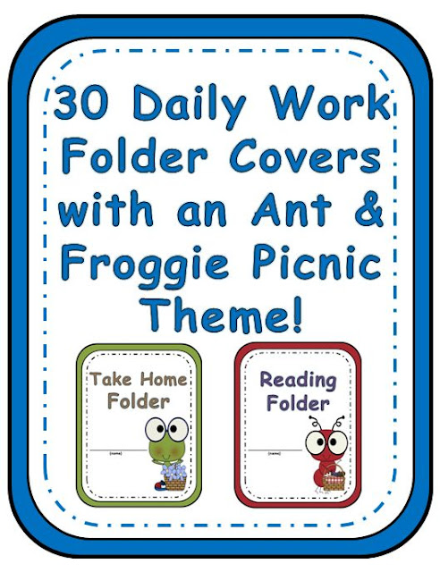 Your students will love getting organized with this adorable Ant and Frog Picnic themed student binders. You will love how easy it is to print these covers for your students' homework folders, or take home folders, depending on what your school calls them. You can use the different characters and colors to organize your reading groups, center groups, math groups, the possibilities are endless! These bright and colorful covers will surely liven up the binders in your classroom with this Ant and Frog Picnic Theme!