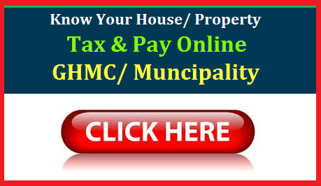 Telangana State Government is Providing Online services to Pay their House Tax/ Property Tax Online . Know your House/Property Tax and Pay Online by using Net Banking Debit Cards/ Credit Cards. TAx Payers should have som basic information to Search their House/ Property Tax in Greater Hyderabad Muncipal Corporation of Hyderabad, Muncipalities and Urban Local Bodies. Most of Mandal Headquarters have formed as ULBs/ Muncipality with merging of nearby villages. All citizens of GHMC/ Muncipalities/ULBS in the Telangana have to pay Tax Regularly when they comes under the ULBs/ GHMC. Here is the easy way to pay Tax Online being at Home in a little time using Property Tax Identification Number. Know the Complete Details