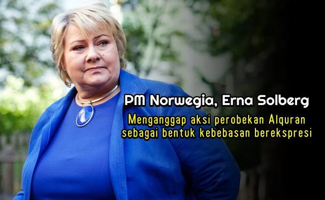 Anggap Aksi Robek Alquran Simbol Kebebasan, PM Norwegia Panen Hujatan, Warganet: Semoga Allah Robek Mulutnya