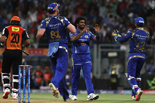 Lasith Malinga 4-23 - MI vs SRH 23rd Match IPL 2015 Highlights