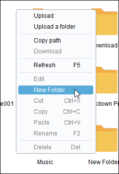 Airdroid PC إنشاء خيار مجلد جديد