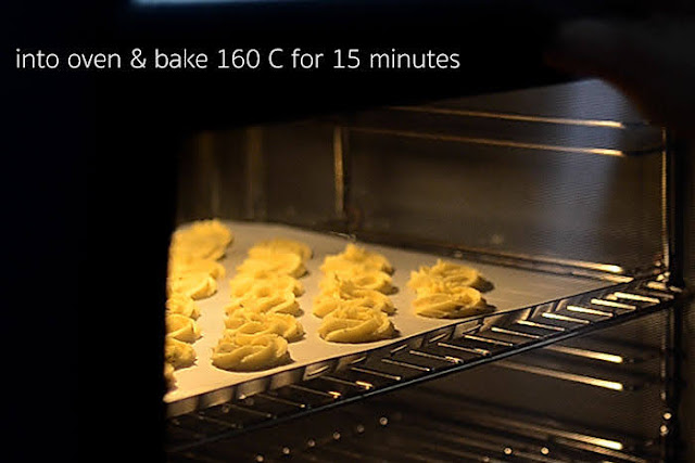 bake rosemary cookie dough for 15 minutes