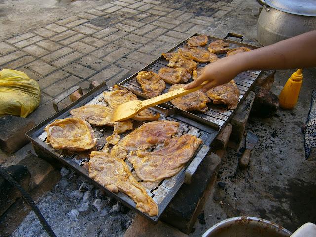 receta peruana de la parrillada de chancho o cerdo