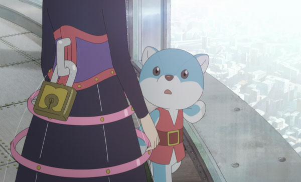 Ancien (voiced by Mitsuki Takahata) and her talking soft toy, Joy (Rie Kugimiya) in NAPPING PRINCESS (2017)