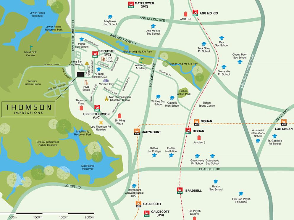 Thomson Impressions Map