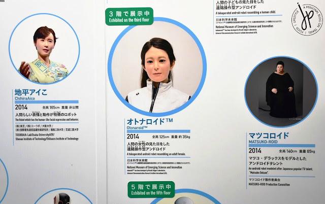 humanoid robot information board
