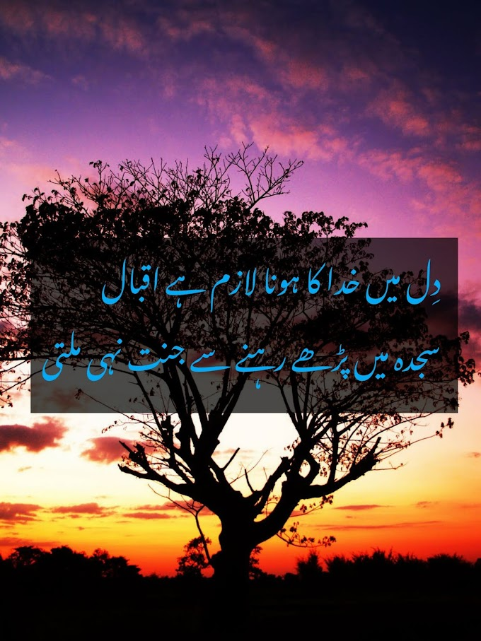 allama iqbal famous poetry in urdu